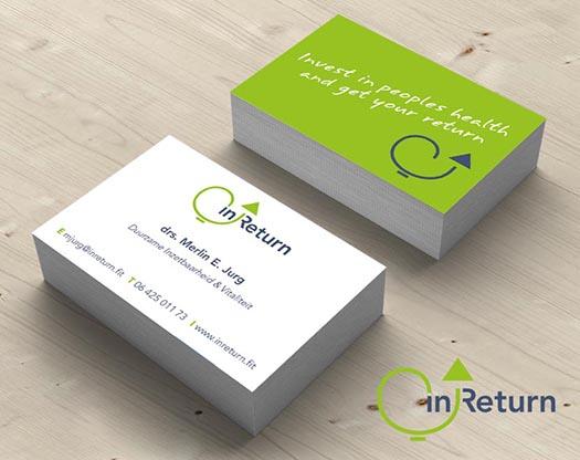 Vitaliteitsprogramma voor bedrijven, grafisch ontwerp logo, huisstijl, stationary, visitekaartje , ansichtkaart.