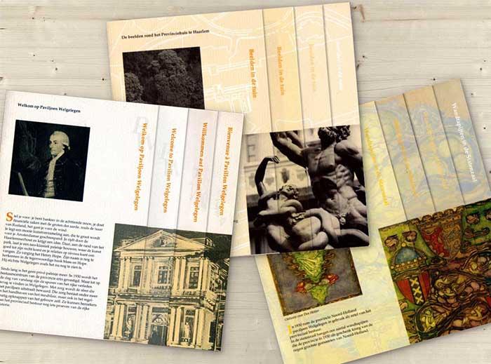 Brochures, Paviljoen Welgelegen, Provincie Noord-Holland