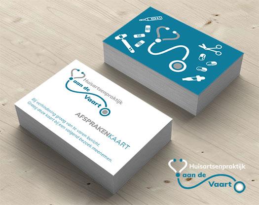 Grafisch ontwerp logo, huisstijl, stationary, visitekaartje huisarts, afsprakenkaartje.