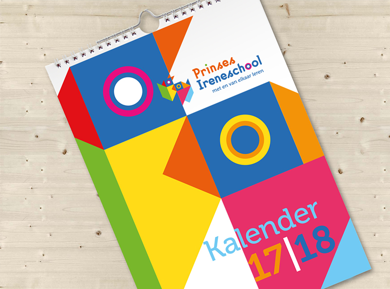 Schoolkalender, huisstijlproduct, grafisch ontwerp,